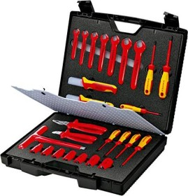 Knipex 98 99 12 hand tool kit, 26-piece. incl. case