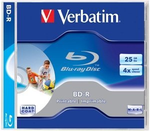 Verbatim BD-R 25GB 4x, 1-pack Jewelcase printable (43668)