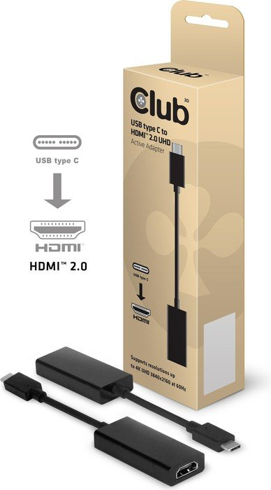 Club 3D active USB 3.1 type-C/HDMI 2.0 adapter (CAC-1504)