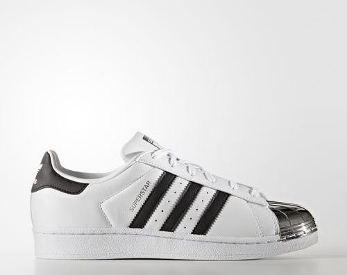 adidas Superstar 80s Metal-Toe footwear white core black silver metallic ( Damen 5353e5d466