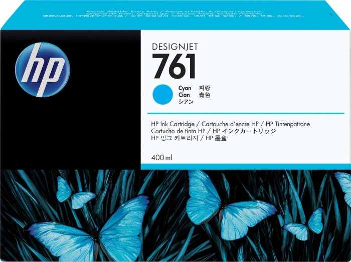 HP ink Nr 761 cyan, 3-pack (CR272A)