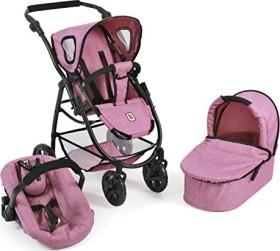 Pink CHIC 2000 3-in-1 Bayer Combi Emotion Checker Dolls Pram
