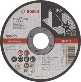 Bosch Professional A60WBF41 Best for stainless steel cut-off wheel 115x1mm, 1-pack (2608602220)