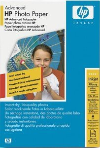 HP Q8691A Advanced Fotopapier 10x15cm, 250g, 25 Blatt