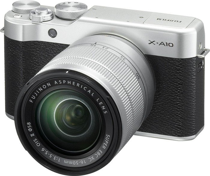 Fujifilm X-A10 silver with lens XC 16-50mm 3.5-5.6 OIS II