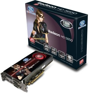 Sapphire Radeon HD 5850, 1GB GDDR5, 2x DVI, HDMI, DisplayPort, full retail (21162-00-50R)