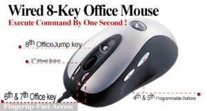 A4Tech SWOP-80 Wired 8-Key Office Mouse, PS/2 & USB