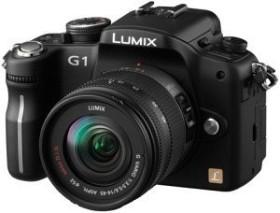 Panasonic Lumix DMC-G1 schwarz mit Objektiv Lumix G Vario 14-45mm 3.5-5.6 OIS (DMC-G1K)