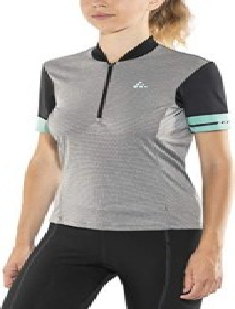 Craft Point jersey short-sleeve dark grey melange/galactic (ladies) (1906076-975610)