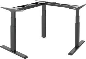 LogiLink elektrisch höhenverstellbares Eckschreibtischgestell, ohne Tischplatte, Sitz-Steh-Schreibtisch (EO0016)