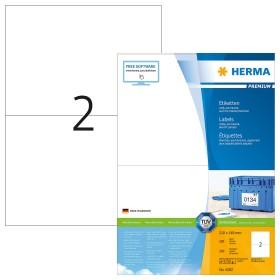 Herma Etiketten Premium A5, weiß, 100 Blatt (4282)