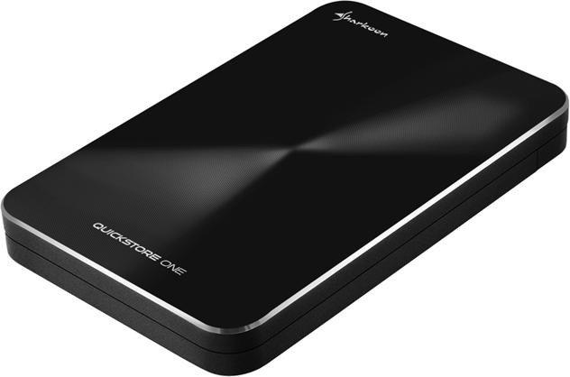 Sharkoon Quickstore portable schwarz, USB-C 3.1
