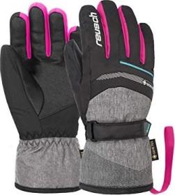 Reusch Bolt GTX Skihandschuhe black melange/pink glo (Junior) (4961305-7771)