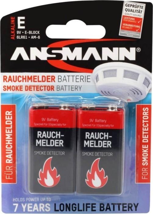Ansmann Alkaline für Rauchmelder 9V-Block, 2er-Pack (1515-0006)