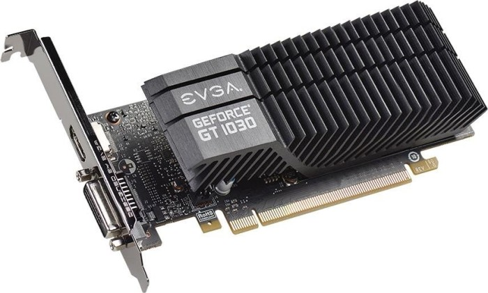 EVGA GeForce GT 1030 SC Passive Low Profile, 2GB GDDR5, DVI, HDMI (02G-P4-6332-KR)