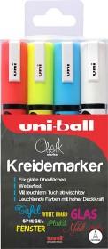 Uni-Ball Chalk PWE-5M Kreidemarker sortiert, 4er-Set (186204)