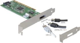 DeLOCK 1x Power Over eSATA [eSATAp], PCI (89238)