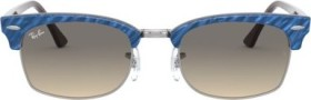 Ray-Ban RB3916 Clubmaster Square 52mm wrinkled blue-brown/light grey gradient (RB3916-131032)
