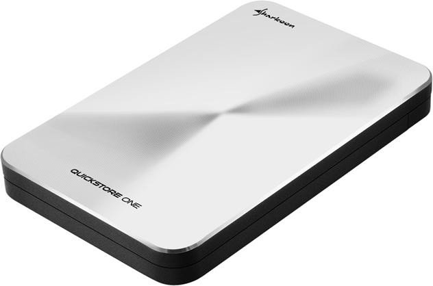 Sharkoon Quickstore portable silber, USB-C 3.1