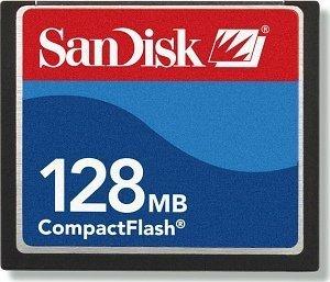 SanDisk CompactFlash Card (CF) 128MB (SDCFB-128) sztuk 2 -- © SanDisk