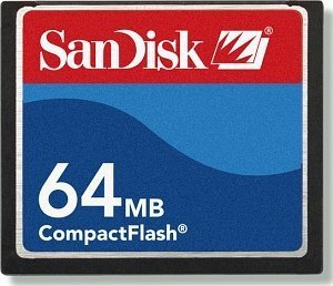 SanDisk CompactFlash Card (CF) 64MB (SDCFB-64) double pack -- © SanDisk