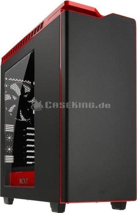 NZXT H440 schwarz/rot, Acrylfenster, schallgedämmt (CA-H440W-M1) -- © caseking.de