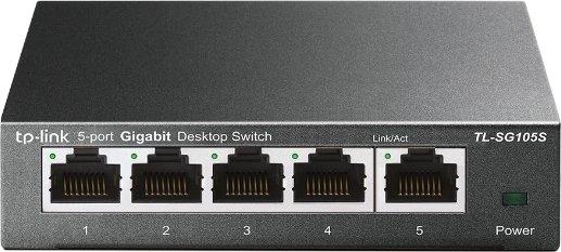 TP-Link TL-SG100 desktop Gigabit switch, 5x RJ-45 (TL-SG105S)