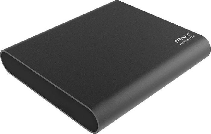PNY Pro elite portable SSD 250GB, USB-C 3.1 (PSD0CS2060-250-RB)