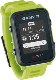 Sigma Sport iD.TRI inkl. Brustgurt und Geschwindigkeits-/Trittfrequenzsender neon green (24260)