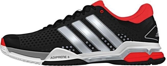 adidas Barricade Team 4 All-Court core black silver met bright red ... e506368a3