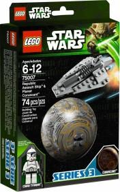 LEGO Star Wars Buildable Galaxy - Republic Assault Ship & Planet Coruscant (75007)