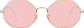 Ray-Ban RB1972 Octagon 1972 Mirror Evolve 54mm gold/pink-grey mirror (RB1972-001/3E)
