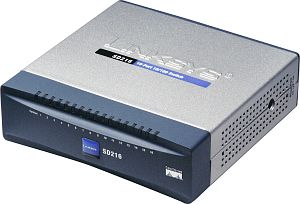 Linksys SD216, 16-port