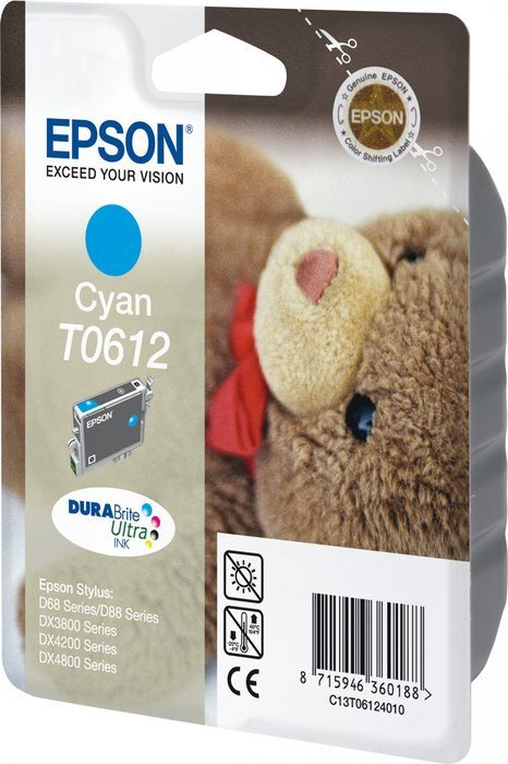 Epson T0612 Tinte cyan (C13T06124010)