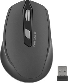Natec Siskin Wireless Silent Mouse schwarz, USB (NMY-1423)