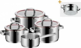 WMF function 4 cooking pot set, 5-piece. red (07.6006.6380)