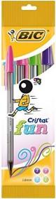BIC Cristal fun, 0.6mm sorted, 4 pieces set (8957921)