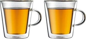 Bodum Canteen glass with grip 200ml, 2-pack (10325-10)