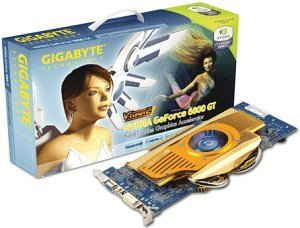 Gigabyte GeForce 6800 GT, 256MB DDR3, VGA, DVI, TV-out, AGP (GV-N68T256DH)