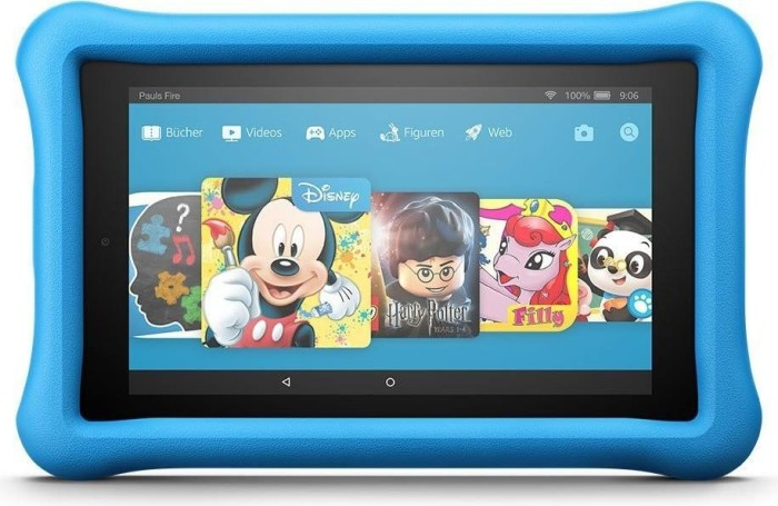 Amazon Fire KFAUWI [2017] Kids Edition ohne Werbung 16GB blau (53-005777)