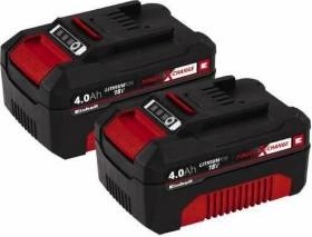 Einhell Power X-Change Werkzeug-Akku 18V, 4.0Ah, Li-Ionen, 2 Stück (4511489)