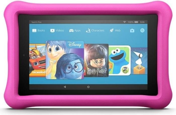 Amazon Fire KFAUWI 2017, ohne Werbung, 16GB, pink, Kids Edition (53-005778)