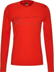 Icebreaker Merino 200 Oasis Crewe Single Line Ski Shirt langarm chili red (Herren) (104898-601)