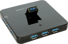 Exsys USB-Hub, 10x USB-A 3.0, USB-B 3.0 [Buchse] (EX-1181)