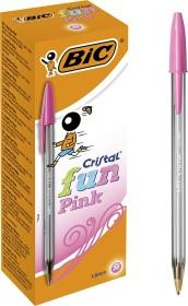 BIC Cristal fun, 0.6mm pink, 20-pack (929056)