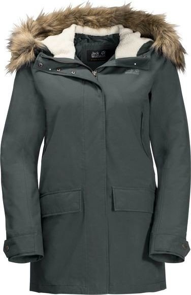jack wolfskin helsinki parka damen greenish grey