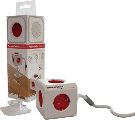 allocacoc/Segula PowerCube Extended 3m weiß/rot Schuko (1307/DEEXPC) -- via Amazon Partnerprogramm