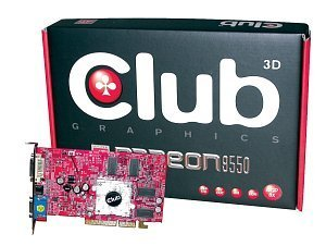 Club 3D Radeon 9550, 256MB DDR, DVI, TV-out, AGP (CGA-956TVD)