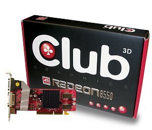 Club 3D Radeon 9550SE, 128MB DDR, DVI, TV-out, AGP (CGA-S958TVD)