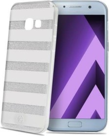 Celly Stripes für Samsung Galaxy A3 (2017) silber (STRIPES643SV)